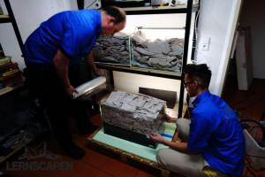 Aquarium Umzug - Mit Folie versiegeln